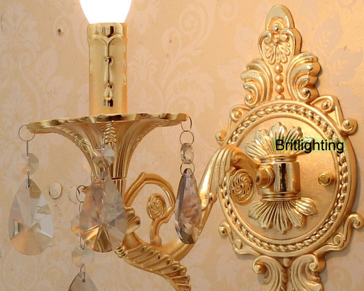 Da comodino applique da parete a led vanity luce oro di lusso