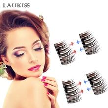 1 Pair/4 Pieces Magnetic Eyelashes Cross Thick Magnet False Eyelashes Natural Long Fake Eye Lashes Extension Makeup