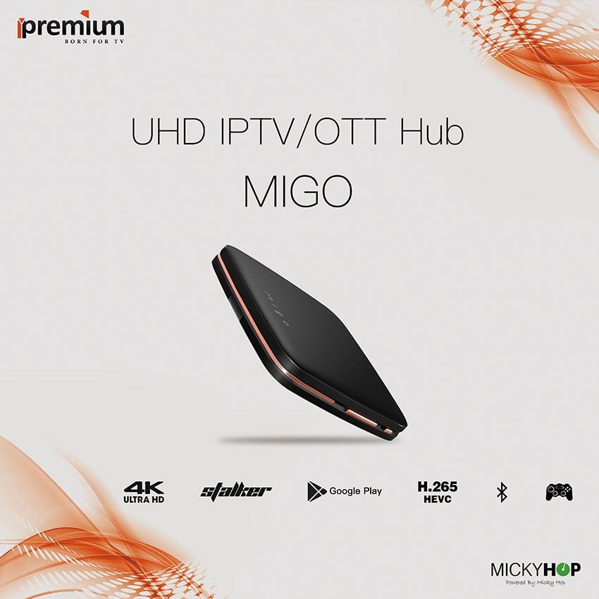 Mediapro IPTV  Ipremium Migo Tv Box 4K Quad Core H.265 HD Wifi Media Player Set Top TV Receiver