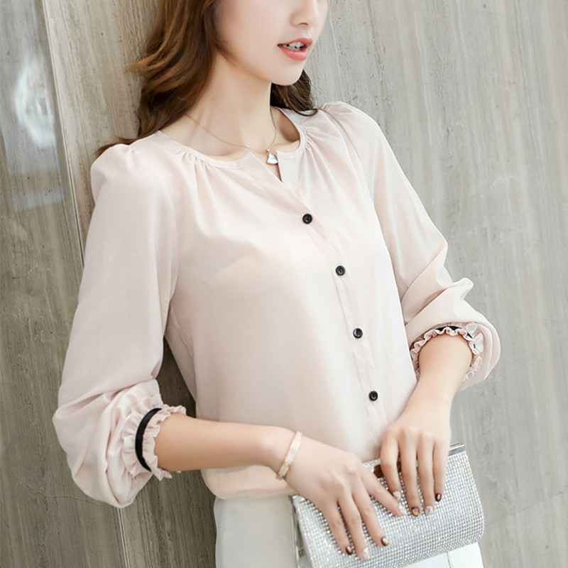 Women's Clothing Women Blouses Casual Ol Lace Chiffon Blouse Summer Loose Shirt Work Wear Blusas Feminina Tops Shirts Plus Size Xxxl/5xl Pink/red Latest Technology