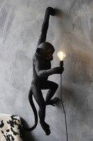 Современный подвесной светильник лампа в форме обезьяны Лофт пеньковая веревка лампа коридор исследование кафе обезьяна подвесной светил