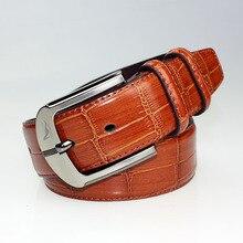 Новинка! мужской широкий кожаный ремень красного цвета с пряжкой, брендовый мужской ремень