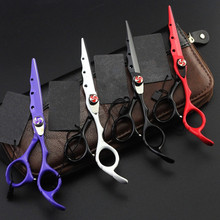 Upscale professional 6 inch Japan 440c cut hair scissors set make up thinning shears cutting barber tools hairdressing scissors