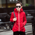 female short design coat 2016 winter new down cotton-padded jacket women's thermal small cotton-padded jacket
