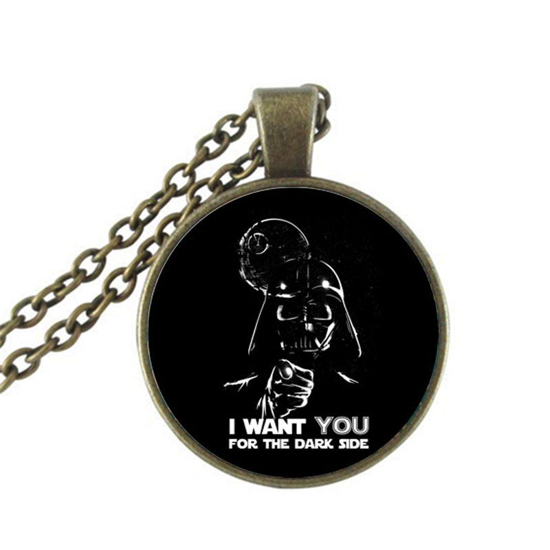 2017 New Star Wars Necklace Novel Pendant Jewelry Vintage Punk Link Chains For Men Glass Dome Pendants Necklaces HZ1 image