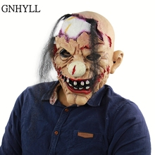 GNHYLL New Style Clown Mask Scary Evil Jester Full Face Halloween Horror Latex Masks