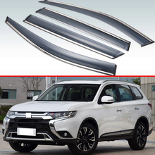 Для Mitsubishi Outlander 2013- пластиковый Наружный козырек вентиляционные Шторы окно Защита от солнца и дождя отражатель 4 шт