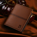 Famous Brand Purse Men 2016 Short Paragraph PU Leather Passport Covers Card Holder Casual Men Clutch Wallets Carteira Masculina