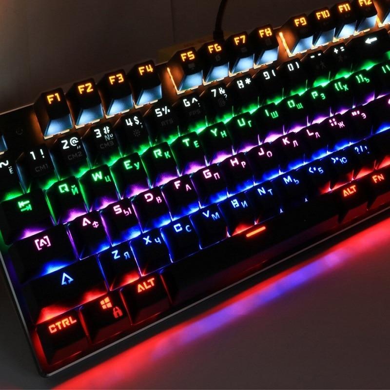 Zuoya keyboard Russian/English gaming mechanical keyboard ergonomic teclado  keycaps logitech bluetooth keyboard corsai