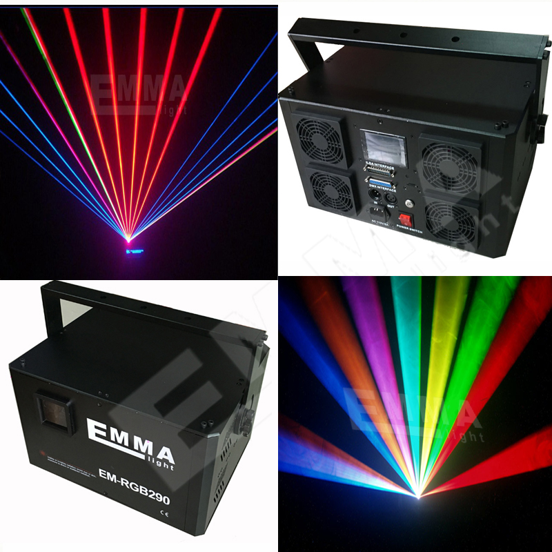 Hot Sale High Powerful DT 50KPPS 7W RGB Full Color Laser