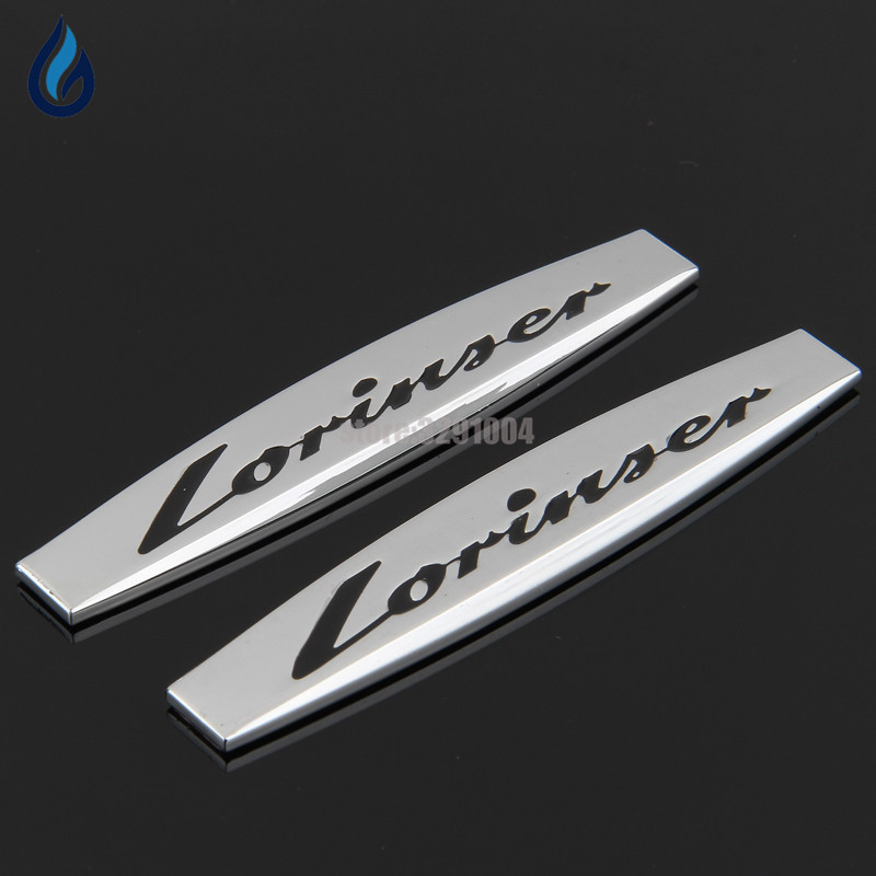 For Mercedes Benz W204 W203 W211 W210 W212 W205 Cla Gla Glc Glk W124 W163 Car Fender Side Stickers Lorinser Metal Emblem Decals 124 mercedes coupe на запчасти