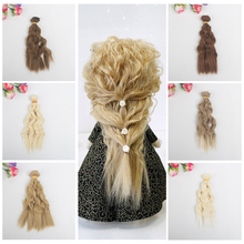 High Temperature 15cm Long Doll Wigs DIY curly hair  Fit for BJD doll