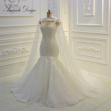 Amanda Chen Design Spaghetti Straps Mermaid Wedding Dress
