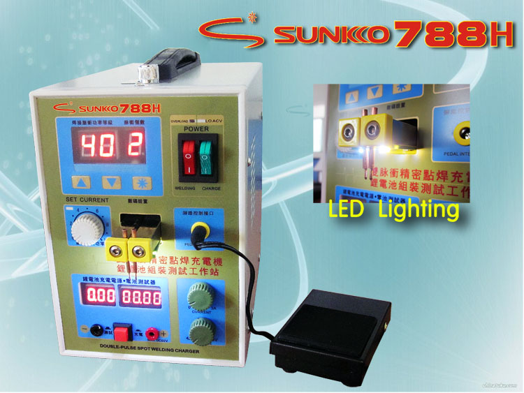 LED Pulse Battery Spot Welder  788H Welding Machine Micro-computer Battery charger 800 A 0.1 - 0.25 mm 36 thermocouple spot welding machine tl weld metal ball lotus wire feeder thermocouple welding