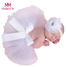 Flower Headwear Newborn Baby Infant Girls Tutu Skirt Photo Prop Photography Newborn Accessories fotografia bonnet enfant(China)