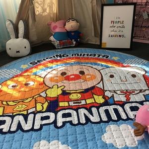 Image 3 - חדש 1.5m/59 Inch ילדים עגול שטיח תינוק לשחק מחצלת צעצועי ארגונית שרוך אחסון תיק קריקטורה בעלי החיים ילדים רצפת משחק מחצלת