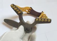 Механическая мини-рогатка из твердой стали, предназначенная для лука, подходит для всех видов рогатки