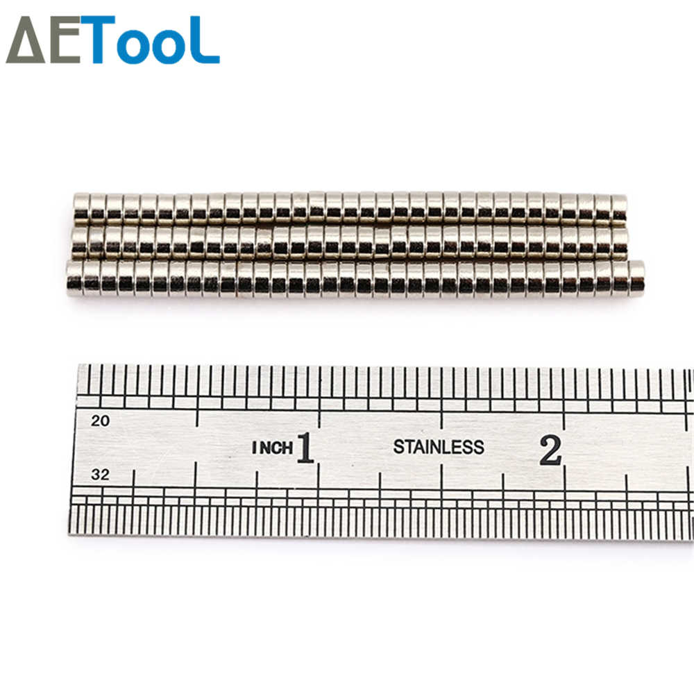 AETool 3x1mm סופר חזק Neodymium מגנט N38 דיסק קבוע מגנט נדיר Earth אמנות מלאכות ניאודימיום ברזל בורון מגנט
