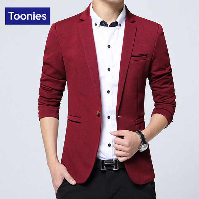 Blazer Masculino Slim Fit Men Jacket New 2017 Brand Clothing Costume Homme Single Button Fashion Suit Casual Mens Blazers Tops