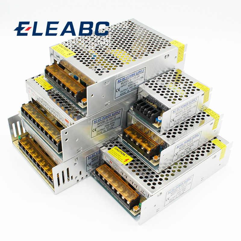 1 шт AC 110 V-220 V к DC 5 V 12 V 24 V 1A 2A 3A 5A 10A 15A 20A 30A 50A переключатель Питание Драйвер адаптер Светодиодные ленты свет