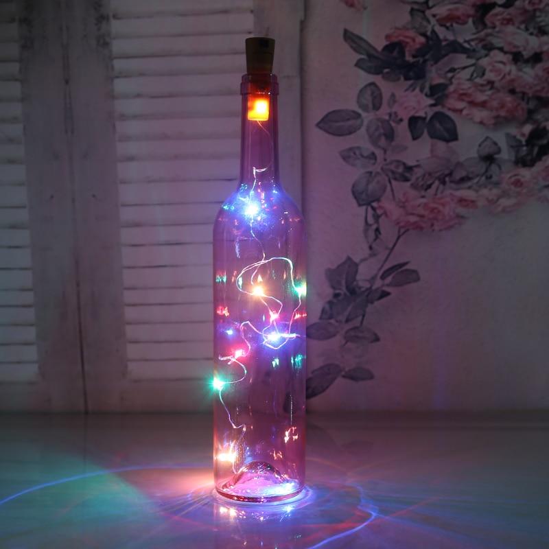 Z20 Led 2m Copper Wire String Light Mini Fairy Night Light Bedroom Lamp Wine Bottle Cork Lights For Wedding Party Decoration