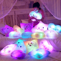 Творческий звезды любят красочные светящиеся подушки медведь плюшевые игрушки, световой пара подушка девушки подарок на день рождения, рождественский подарок