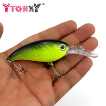 Купить с кэшбэком HENGJIA 1pcs Crankbait Wobblers Hard Fishing Tackle 14g 10cm Swim bait Crank Bait Bass Fishing Lures 10 Colors YE-195