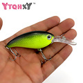 1pcs Smart Minnow Crankbait Fishing Wobblers Hard bait Bass Spinner Fishing Lures 2018 hot sale 17 Colors fishing tackle YE-195