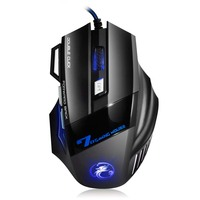 EASYIDEA Professional Wired Gaming Mouse 5500DPI 7 Buttons Cable USB Optical Gamer Mouse Mice For PC