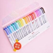3 шт. или 5 шт./компл. японская зебра мягкая подкладка двойная флуоресцентная ручка Креативные маркеры, фломастер, ручка школьные принадлежности кавайи