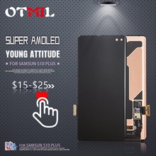 AMOLED For SAMSUNG GALAXY S10 LCD Touch Screen Assembly Digitizer For Samsung S10 Plus LCD  S10E LCD#1 10 1 b101aw03 v 0 s10 laptop lcd screen gradea and brand new to whole sale