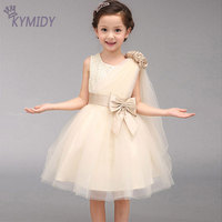 Luxury Sequined Girls Dresses Flower Girl Dress For Weddings Party Princess Costumes With Big Bow Spring