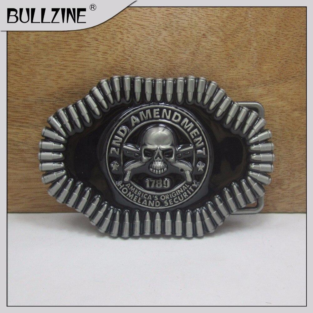 В Bullzine Череп Пряжка на ремешке с пулями с оловянные финишной FP-03241 подходит для 4 см ширина ленты