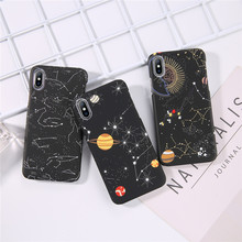 iPWSOO Stars Phone Case For iPhone 6 6s 7 8 Plus X XS MAX XR Space Planet Constellation Pattern Hard PC