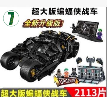 2017 New DECOOL 2113pcs 7111 Batman chariot The Tumbler Joker Toy building blocks Superhero Series boy Compatible 76023