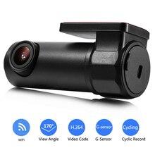 170 Derece Geniş Açı Mini Gece Görüş Sürüş Kaydedici Wifi HD araba dvrı Dash kamera 30 fps araba dvrı Kamera