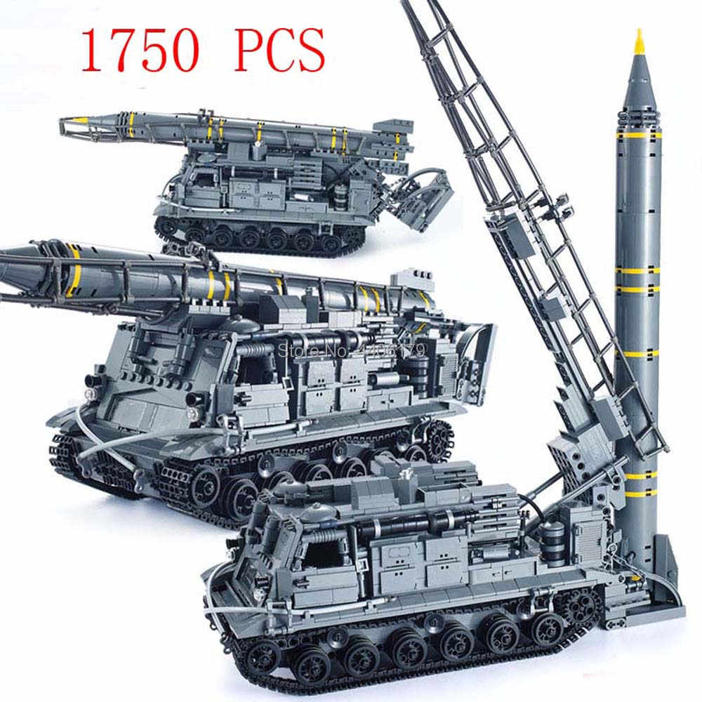 hot LegoINGlys military WW2 army war Heavy tank Missile launch vehicle Building Blocks MOC model bricks toys for children gift