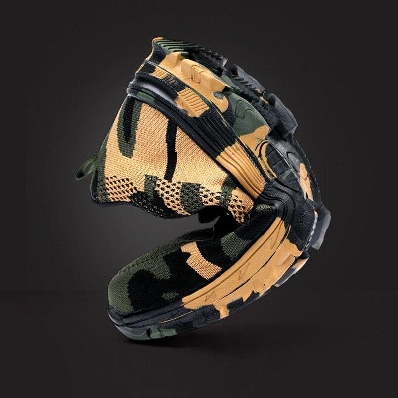 Zapatos de punta de acero de seguridad de estilo MINGPINSTYLE hombres zapatos de trabajo impermeables zapatillas de deporte a prueba de pinchazos hombres botas militares del Ejército