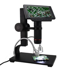 Promo offer HDMI/AV Digital Microscope Long Object Distance USB Microscope Soldering Tool for Mobile Phone Repair with Stand and LCD Screen