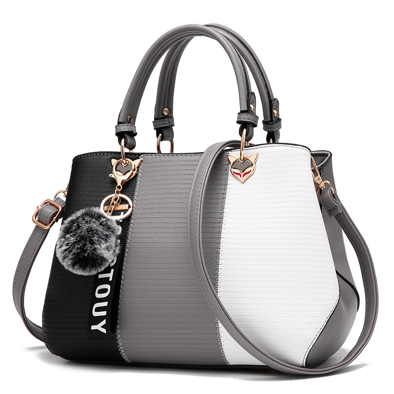 Kvinnor Top Handtag Messenger Bag Patchwork Fashion PU Läder - Handväskor - Foto 3