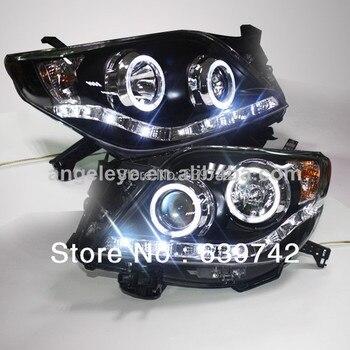 for Prado 2700 FJ150 LED Angel Eyes Headlight  for Toyota 2009-2013 year LDV1