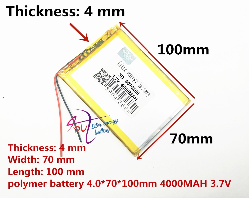 best battery brand 4068100 3.7V 4000mah <font><b>4070100</b></font> Lithium polymer Battery with Protection Board For PDA Tablet PCs Digital Product image