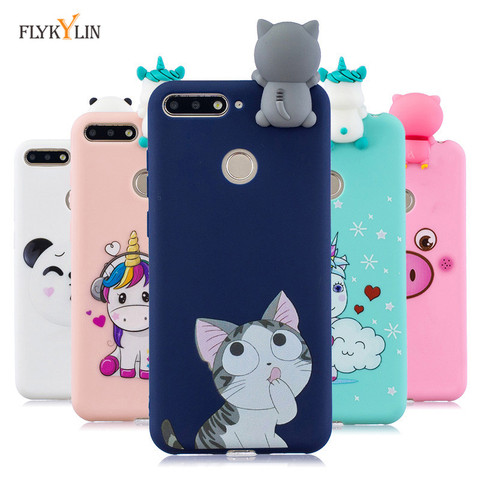 Silicone Case sFor Huawei Honor 7A Pro Cover For Fundas Huawei Y6 Prime 2018 3D Doll Toys Candy Soft TPU Phone Cases Women Etui Pakistan