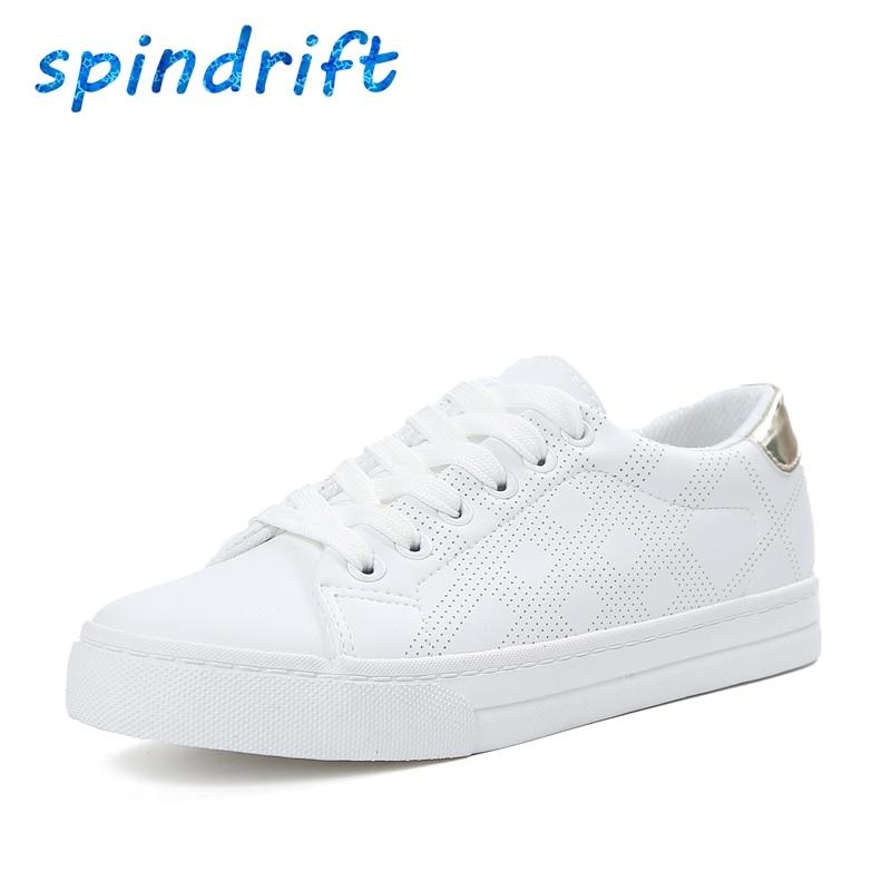 Spindrift Nueva Moda Casual Zapatos de Mujer de Marca Blanca Superestrella Clási