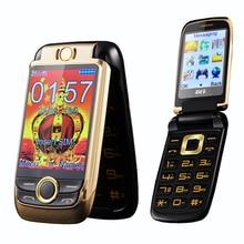 Blt v998 flip dual touchscreen zwei senior mobile telefon vibration metallgehäuse Dual SIM magische stimme handy P077