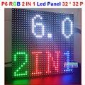 P6 светодиодный дисплей модуль 192 мм * 192 мм, 32*32 пикселей, полноцветный, 1/16 сканер, панели светодиодный дисплей, p6 полу-открытый smd 2 в 1 панель