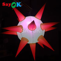 2m LED Lighting Inflatable Star Balloon inflatable spiky ball for Party and Stage Decoration