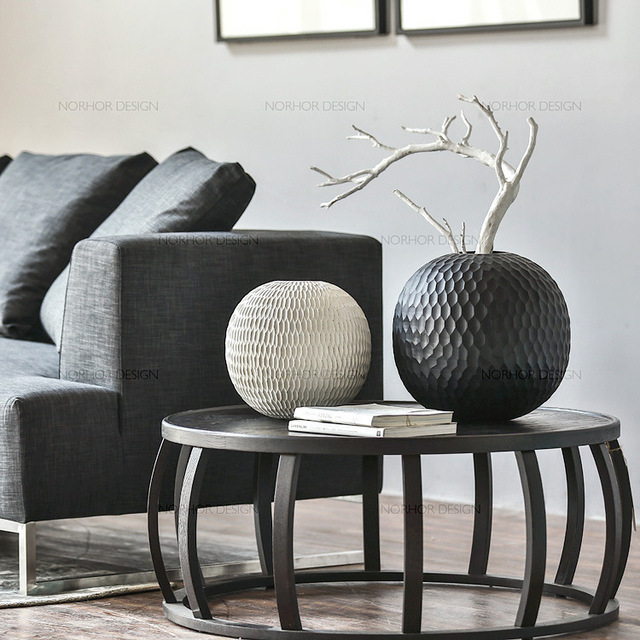 Creative French Loft Style Wrought Iron Coffee Table Retro Round Tea