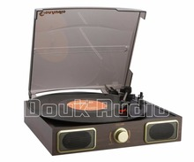 Douk Audio Stereo Turntable LP Vinyl Record Player Phono AUX Built-in Speakers 220V