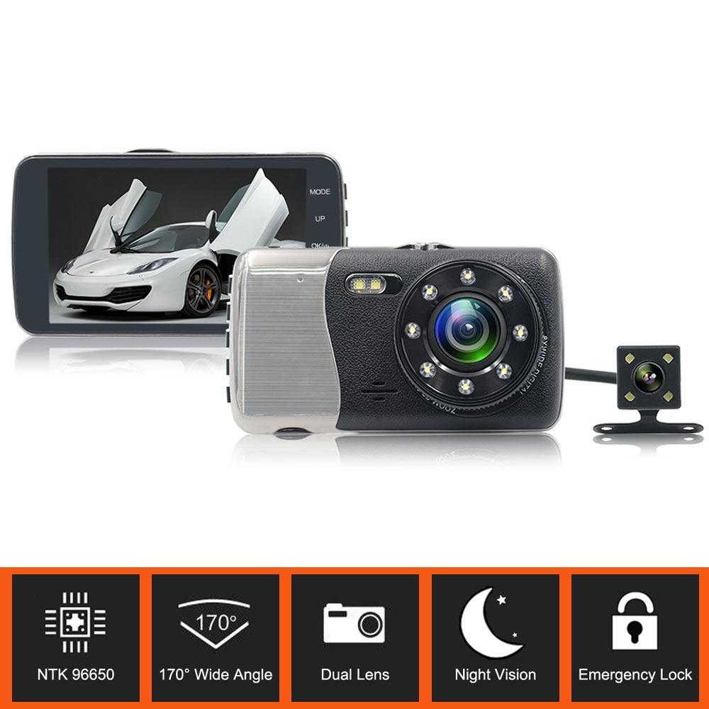 TFH6 Novatek 96650 1080P Full HD Car DVR 4.0 Inch LCD 170 Degree Night vision Car Dash Camera With G- Sensor Parking Monitoring anytek car dvr a100 novatek 96650 car camera ar0330 1080p wdr parking monitor night vision black box